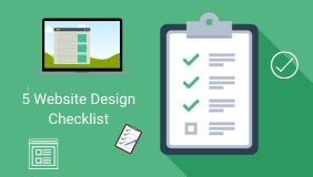 5 WEBSITE DESIGN CHECKLIST